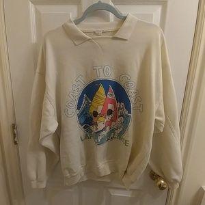 Vintage collared sweatshirt